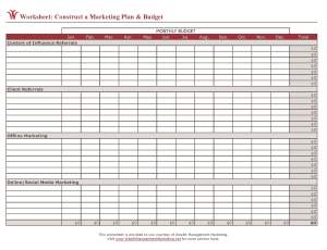 Printables Marketing Plan Worksheet june 2009 wealth management marketings blog presented by you worksheet construct a marketing plan